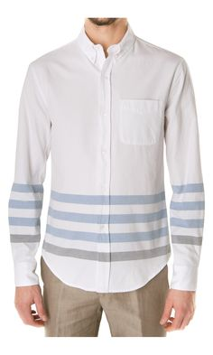 Band of Outsiders Stripe Bottom Shirt - #menswear