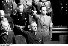 Joachim von Ribbentrop and Joseph Goebbels at a Reichstag session, Kroll Opera House, Berlin, 4 May 1941