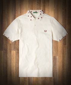 Fred Perry - Twisted Wheel Rose Camisa de cuello