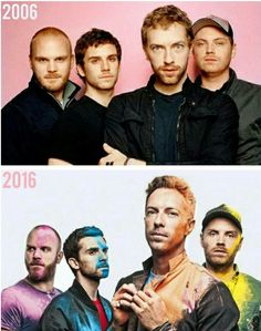 Coldplay then and now