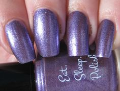 Eat Sleep Polish - Crush on You from the Fizzle & Pop collection.  Oh My Swatch!