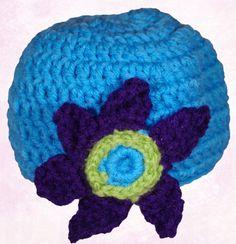 Crochet Baby Hat Flower