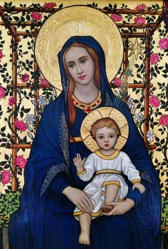 Blessed Virgin Mary and Christ Child Divine Mother, Blessed Mother Mary, Blessed Virgin Mary, Religious Images, Religious Icons, Religious Art, Christian Artwork, Christian Images, Hail Holy Queen
