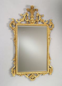 26 1 2 x 46 1 2 1650 victorian gilded mirror with barley for Miroir 30 x 50