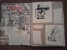 Image result for banksy sketchbook page