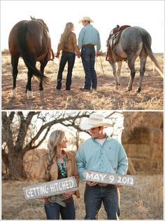 Gettin' hitched Western Save the Date