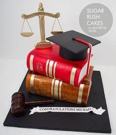 Events by Gia likes this Graduation Cake for a Lawyer!  #atlanta #eventstyling #eventsbygia #eventcompany #sherwoodeventhall #atlantavenues #partyideas #weddingcake #graduationcake #birthdaycake #lawyergraduationcake