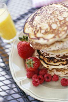Gluten Free Protein Raspberry Pancakes