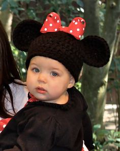 Minnie Mouse Hat with Red Bow. $14.00, via Etsy.