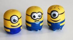 Cómo hacer minions con Kinder Sorpresa - How to make Minions with Kinder Surprise Eggs Egg Crafts, Easter Crafts For Kids, Clay Crafts, Diy For Kids, Arts And Crafts, Minions Diy, Minion Eggs, Minion Birthday, Wine Cork Crafts