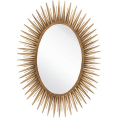 Liven any setting with this decorative mirror. Crafted using 100-percent metal this mirror is sure to be the accent you've been searching for. Frame Material: Metal Type: Wall Mirror Mirror Shape: Ova