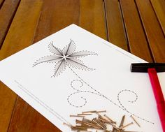 "String art pattern ""The Lily"" | Flower string art | String art DIY | String art template"