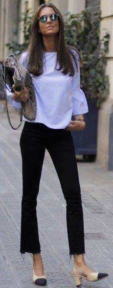Baby Blue + Black + Chanel                                                                             Source