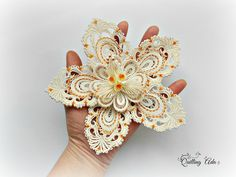 quilling large flower