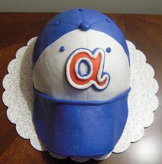 Braves hat cake