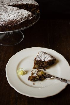 Pear, Chocolate and Pistachio Cake by simpleprovisions, via Flickr