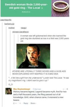 You had ONE JOB Frodo!