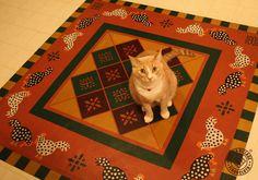 http://www.floorcloth.net/pet-friendly-rugs.shtml .....................  #floorcloth #floorcloths #canvasrug #catfriendlyrugs #petfriendlyrugs #paintedrug #easytomaintainrugs