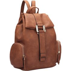 Dasein Drawstring Accent Backpack with Side Pockets - Coffee -... (597.500 IDR) ❤ liked on Polyvore featuring bags, backpacks, brown, flat backpack, coffee backpack, dasein backpack, faux leather drawstring backpack and fake leather backpack