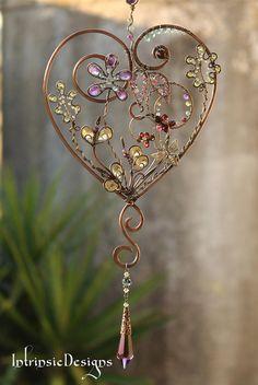 GARDEN HEART ... SUNCATCHER ... loaded with by IntrinsicDesignsArt