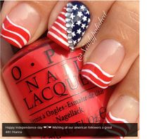 I am 25 best Fourth of July nail art designs, ideas & stickers of these of July nails are adorable. Funky Nails, Love Nails, My Nails, Polish Nails, Pretty Nails, Best Nail Art Designs, Nail Polish Designs, Toe Designs, Nailart