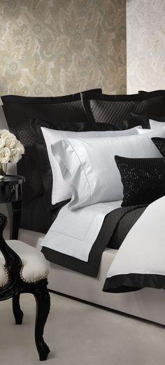 oMG I NEED this bedding set I love black and white love love