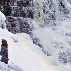 Upper Peninsula | Explore | WisConcierge | Discover Together | Snow | Winter Vacation | Waterfalls | Frozen