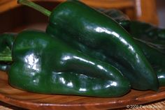 Preparing Poblano Peppers