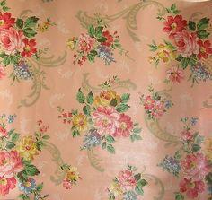 Wallpaper Rose Wallpaper, Fabric Wallpaper, Wall Wallpaper, Pattern Wallpaper, Beautiful Wallpaper, Wallpaper Ideas, Vintage Wall Art, Vintage Walls, Vintage Fabrics