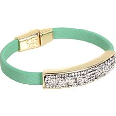 51% Off Now $16.99 #JessicaSimpson - Wild Side #Bracelet (Green/Crystal/Gold Tone) - #Jewelry http://www.freeprintableshoppingcoupons.com