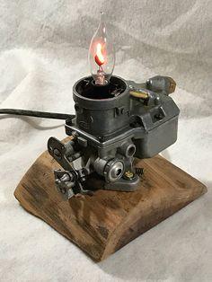 Repurposed Ford Carb Lamp