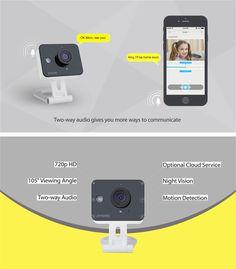 Zmodo 720P HD WiFi Mini Color Sensor Home Security IP Night Vision Camera ZM-SH75D001 at Banggood