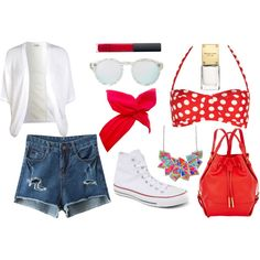 A fashion look from November 2014 featuring white cocoon cardigan, destroyed jean shorts and retro bikini top. Browse and shop related looks. Cocoon Cardigan, Destroyed Jeans, Bikini Tops, Jean Shorts, 18th, Fashion Looks, Bikinis, Polyvore, Stuff To Buy
