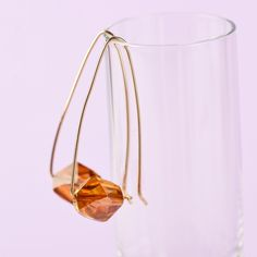 The color of golden amber, these earrings look stunning against soft blonde hair.