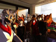 Furry Selfie Commission by Tatujapa.deviantart.com on @DeviantArt