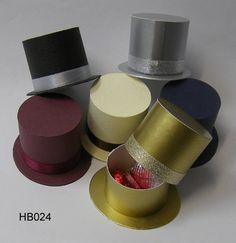 Cajas con forma de sombrero