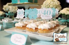 Elegant Milestone Birthday Party Printables. 40th 30th & 60th #Birthday Party Ideas!
