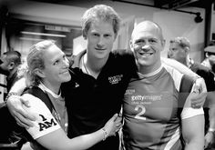 Prince Harry, Zara Phillips and Mike Tindall pose for a photograph after competing in an Exhibition wheelchair rugby match at the Copper Box ahead of tonight's exhibition match as part of the Invictus Games at Queen Elizabeth park on September 12, 2014 in London, England. The International sports event for 'wounded warriors', presented by Jaguar Land Rover was an idea developed by Prince Harry after he visited the Warrior Games in Colorado USA. The four day event has brought together…
