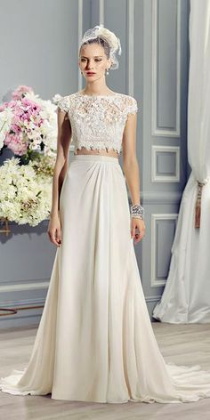 On Trend: 24 Bridal Separates And#8211; Breaking The Rules ❤ See more: http://www.weddingforward.com/breaking-the-rules-bridal-separates/ #weddingforward #bride #bridal #wedding