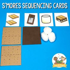Pretend Smores Craft Idea For Kids – Pre-K Pages Pretend Smores for Dramatic Play Camping Theme Preschool Camping Activities, Camping Theme Crafts, Preschool Lessons, Preschool Activities, Camping Ideas, Camping Essentials, Summer Preschool Themes, Camping Crafts For Kids, Nutrition Activities