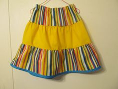 Colorful ruffled skirt Girl's skirt Spring/ Summer, Size 6 by creationsbyjessi
