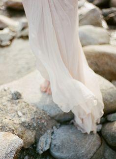 Blush pink wedding dress inspiration - Wedding Sparrow blog -- love this series of photos!