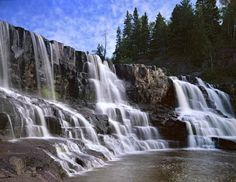 This is so pretty and its in Minnesota.  Gooseberry Falls.