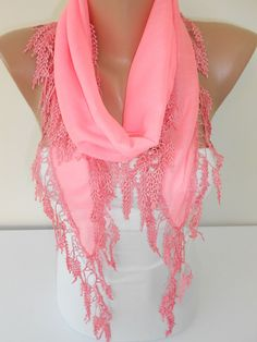Spring Scarf Summer Scarf Women Fashion Neon Pink Scarf Mothers Day From Daughter Son Husband For Mom Gift For Her For Wife Trending Item