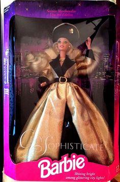 Vintage City Sophisticate Barbie  #12005 1994 Blond #Mattel #Dolls