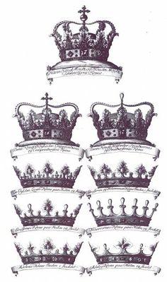Rangkroner fra Rosenborg.Indført av Christian 5. i 1671, da han innførte de nye rangklasser greve og friherre.