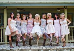 Miranda Lambert bought Old Gringo boots for her bridesmaids! #cuteaspie #countrywedding #cowboyboots