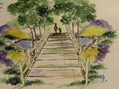 Pathway with fence! Look at the  other items in photo examples they are sold separately: pond, flowers,  grass, leaves,  , father & child. Made by  Art Impressions Rubber Stamps. You can purchase these in my ebay store. Click on picture & it will take you into this listing. Use my search engine to find other items . My ebay Store is: Pat's Rubber Stamps & Scrapbooks or call me 423-357-4334 with order. We take PayPal. You get free shipping with $30.00 or more