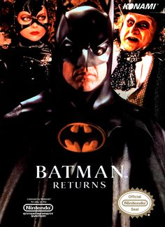 Batman Returns for Nintendo NES. Nes Games, Games Box, Nintendo Games, Batman Returns, Retro Video Games, Video Game Art, Playstation, Original Nintendo, Arch Enemy