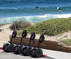 Segways and Surfers in Monterey